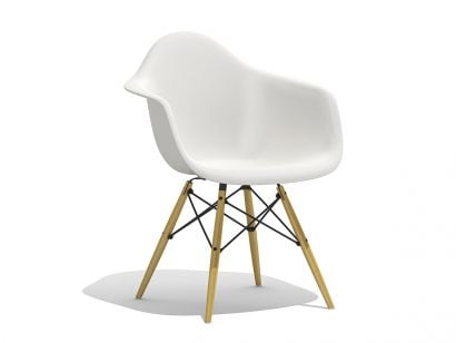 Eames Plastic Armchair DAW - Golden Maple Legs
