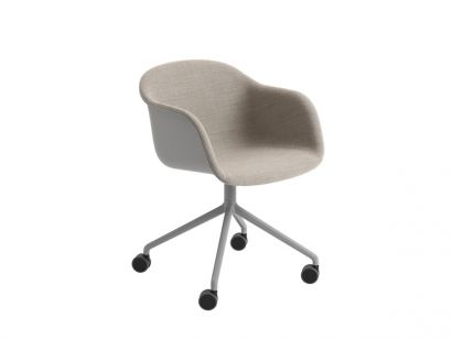 Fiber Armchair Front Upholstery / With Castors