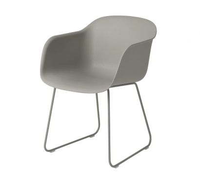 Fiber Armchair - Sled Base Grey/Grey