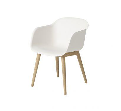 Fiber Chair - White/Oak