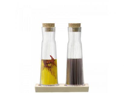 GIO LINE Set Bottiglia Tappi Sughero Base Faggio 200ml
