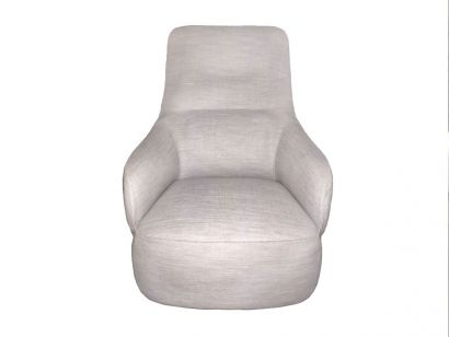 Giorgetti - Caddy Bergere Armchair Silver 6548