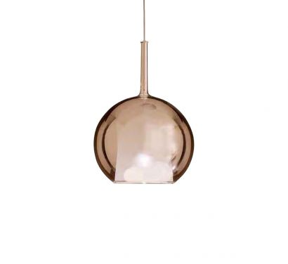 Glo Suspension Single Lamp - Small Pink Gold