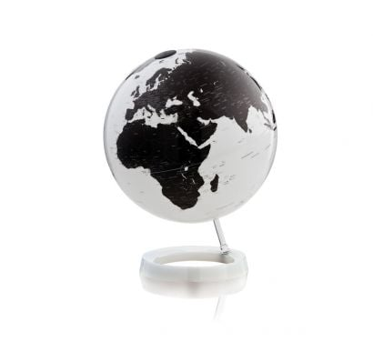 Light & Colour Bright White Globe with White Base