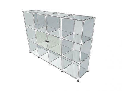 USM Haller Glass 1 Bookcase - Transparent
