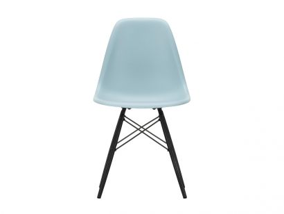 Eames Plastic Side Chair DSW - Sedia Acero Nero