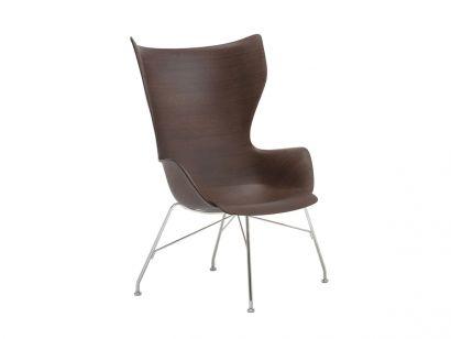 Philippe Starck - Kartell K/Wood Armchair - SC Dark Wood/Chrome