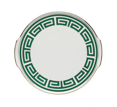 Labirinto Smeraldo Assiette à Gâteau avec des Poignées Ø 31,5 cm