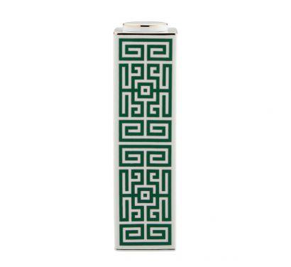 Labirinto Smeraldo Vase Haut Rectangulaire avec Couvercle H. 30