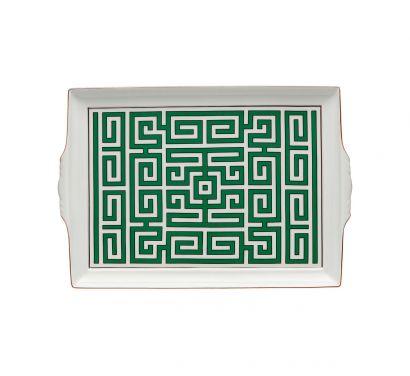 Labirinto Smeraldo Plateau avec Poignées L. 31,5 cm - P. 22,5 cm