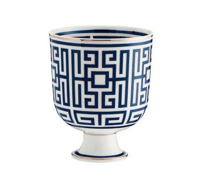 Labirinto Zaffiro Cachepot Vase H. 19