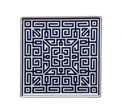 Labirinto Zaffiro Assiette Vide-Poches L. 30 cm - P. 30 cm