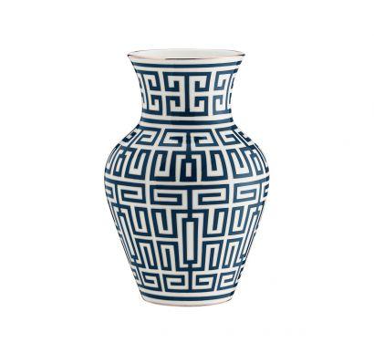 Labirinto Zaffiro Ming Vase H. 25