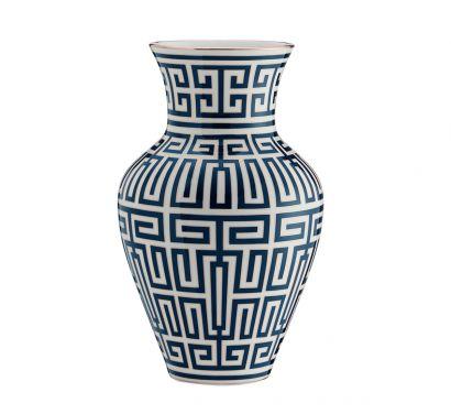Labirinto Zaffiro Ming Vase H. 30