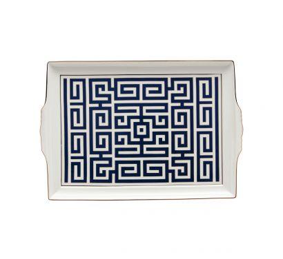 Labirinto Zaffiro Plateau avec Poignées L. 31,5 cm - P. 22,5 cm
