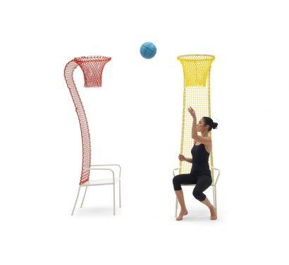 Lazy Basketball Chaise - Jaune