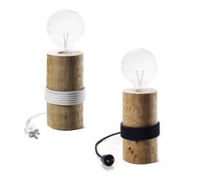 Log lampe de table