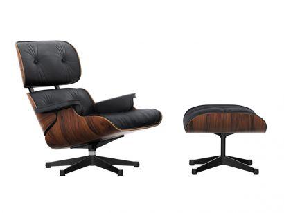 Eames Lounge Chair & Ottoman - Leather Premium F