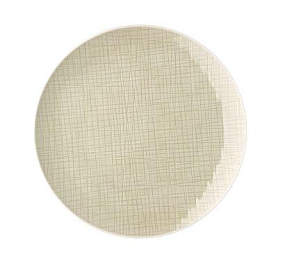 Mesh Cream Flat Plate 27 cm