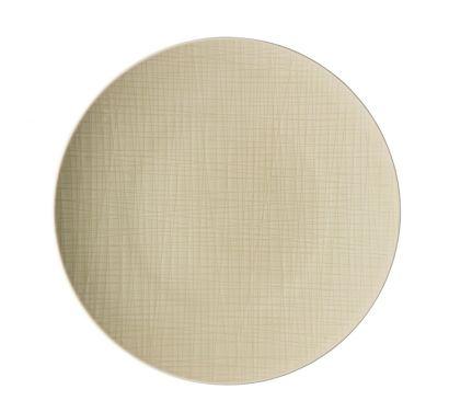 Mesh Cream Flat Plate 33 cm