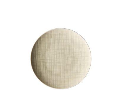 Mesh Cream Flat Plate 17 cm