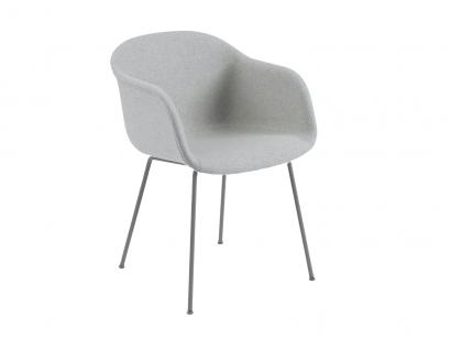 fiber upholstered tube chair