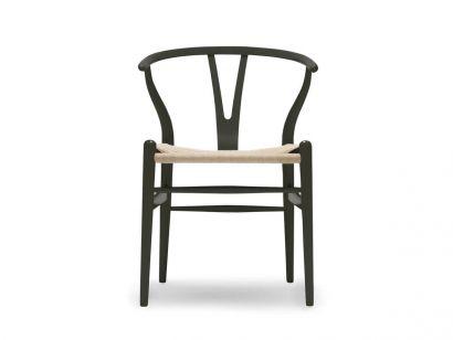 CH24 Wishbone Chaise - Hêtre Deep Olive