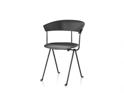 Officina Chair - Polypropylene Black / Black Base