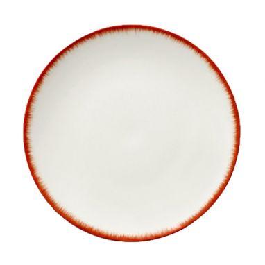 Dè Plate D24 cm Off-White/Red Var 2