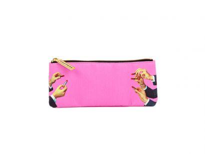 Lipstick Pink Pencil Case - L. 21 cm - H. 9 cm