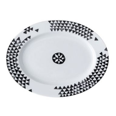 Magic Garden Black Seeds Plate L. 32 cm