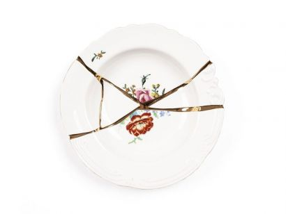 Kintsugi assiette creuse 09622