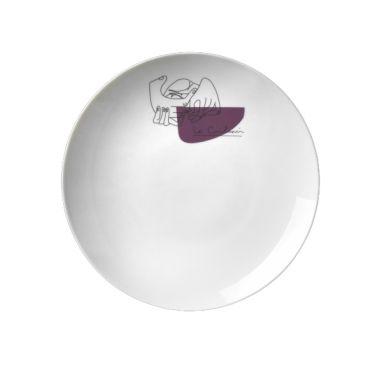 LC Porcellane Service Prunier - Set 2 Plats
