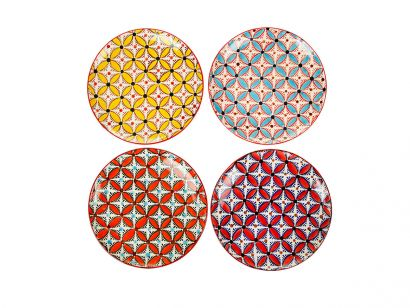 Plates Hippy set da 4 piatti