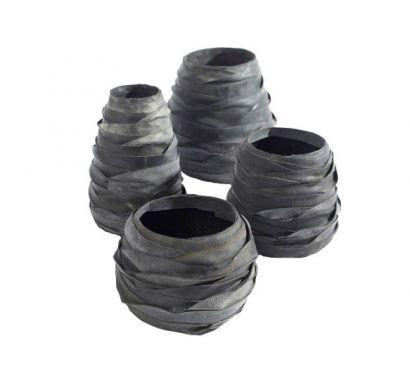 Recycle Vase Set of 4 pcs H. 15/19/24/25