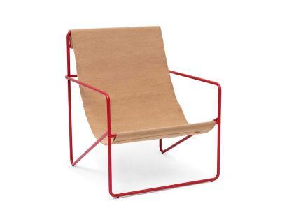 Desert Sedia Lounge Telaio Rosso