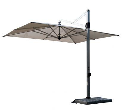 Rodi Parasol Outdoor Black Fabric - Graphite Base