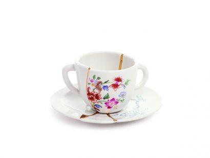 Kintsugi Coffee Cup with Saucer 09641