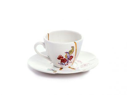 Kintsugi Coffee Cup with Saucer 09642