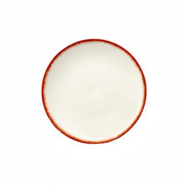 Dé Plate Ø. 17,5 cm Off-White/Red Var 2