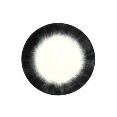 Dè Plate Ø. 17,5 cm Off-White/Black Var 4