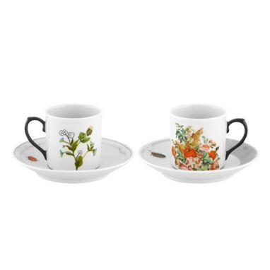 Petites Histoires Set di 2 Tazze da Caffè e Piattini