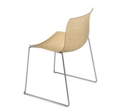 Catifa 46 Chair - Sled Base / Wood