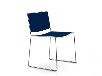 Spindle  Chair - Blu Storm Lacquered Color
