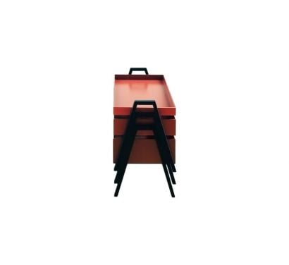 Stack - Tavolino impilabile - rosso