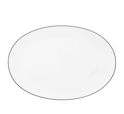 Tac Gropius Platin Assiette ovale 34 cm