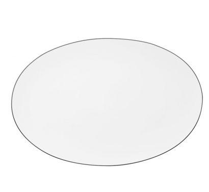 Tac Gropius Platin Assiette ovale 38 cm