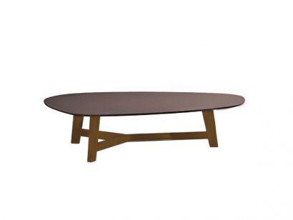 Phoenix Table Basse 135X98 - Chêne Naturel 85 / Laminam Tourterelle