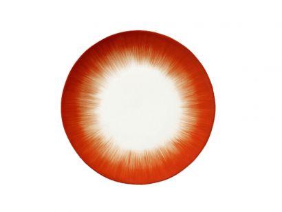 Dè Plate D24 cm Off-White/Red Var 5