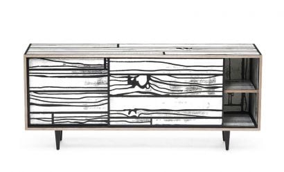 Wrongwoods Low Cabinet White/Black